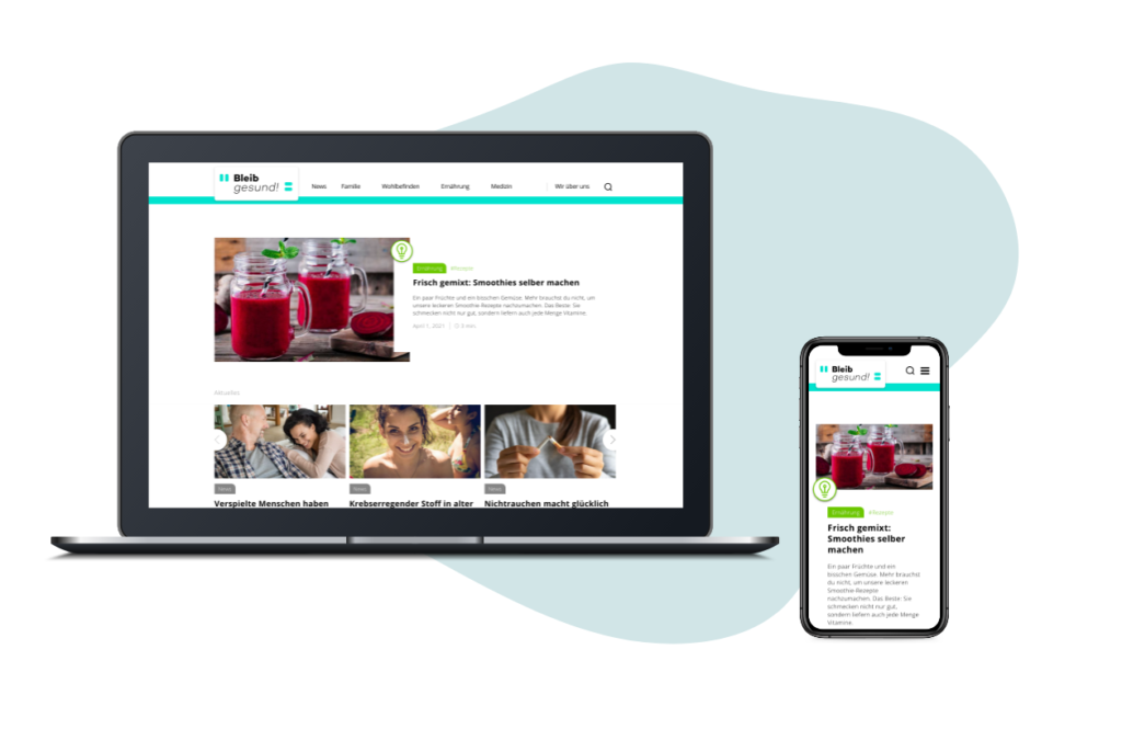 Online-Gesundheitsmagazin bleibgesund | Mediadaten | wdv