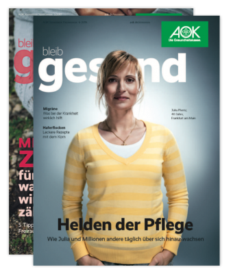 AOK bleib gesund Magazin - Cover